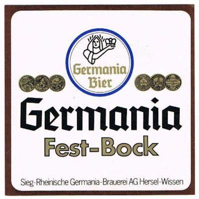 Germania Fest-Bock - ein Bier mit einem Alkoholgehallt von 7%, das zur Erhöhung des Stammwürzegehaltsn mit mehr Hefe gebraut wurde.