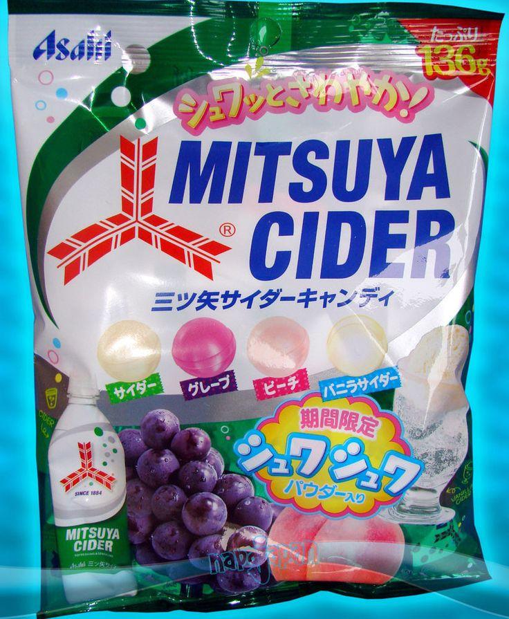 Lot de 10 sachets de bonbons japonais Mitsuya Cider aromes assortis / FROM JAPAN
