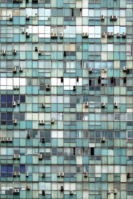 Window A/C units as art. #HVAC