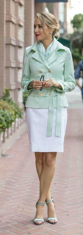 Mint Jacket Outfit Idea