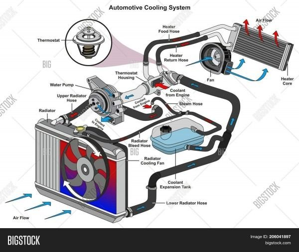 Cooling System Flow Diagram Automotive Mechanic Cooling System Automobile Engineering
