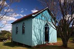 Capelinha Azul no Morro Calçado, Canela - RS... little chapel in the rural area of Canela, RS.