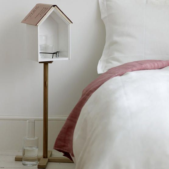House Nightstand - and you can rest your book on it too! By Alex Hellum #DIY: Bedrooms Tables, Little Birds, Cute Ideas, Reading Nooks, Bedside Tables, Night Stands, Sweet Home, Tables De, Design Blog