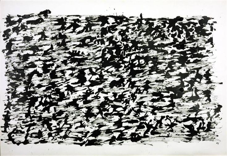 Untitled Chinese Ink Drawing - Henri Michaux