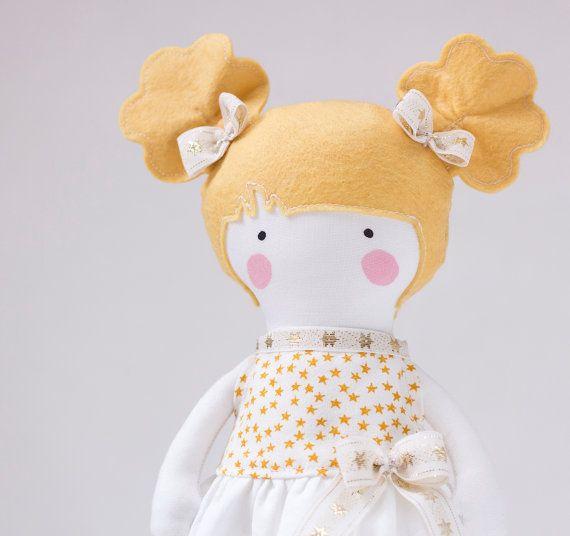 Princess Fabric Doll Rag Doll Gift for Children by RibizliDesign