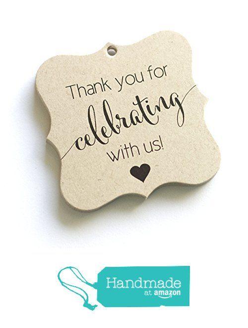 Thank You Favor Tags, Thank You Wedding Tags, Thank you for Celebrating With Us (FS-362-KR) from Orange Umbrella Co https://www.amazon.com/dp/B01BKSU3UW/ref=hnd_sw_r_pi_dp_XCwzxbXWJT8N8 #handmadeatamazon
