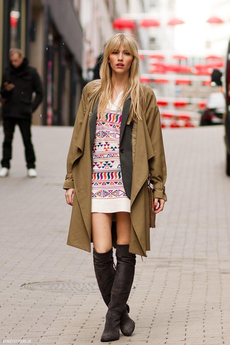 Dress + Boots + Coat