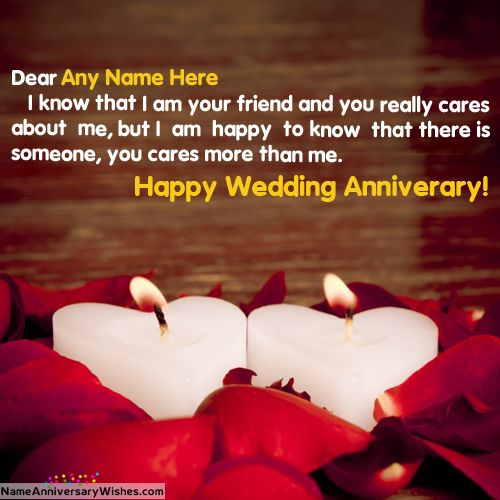 Romantic Candle Wedding Anniversary Images For Friends