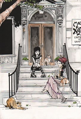 Madame Xanadu plays cards with Death (from Neil Gaiman's Sandman). #joellejones