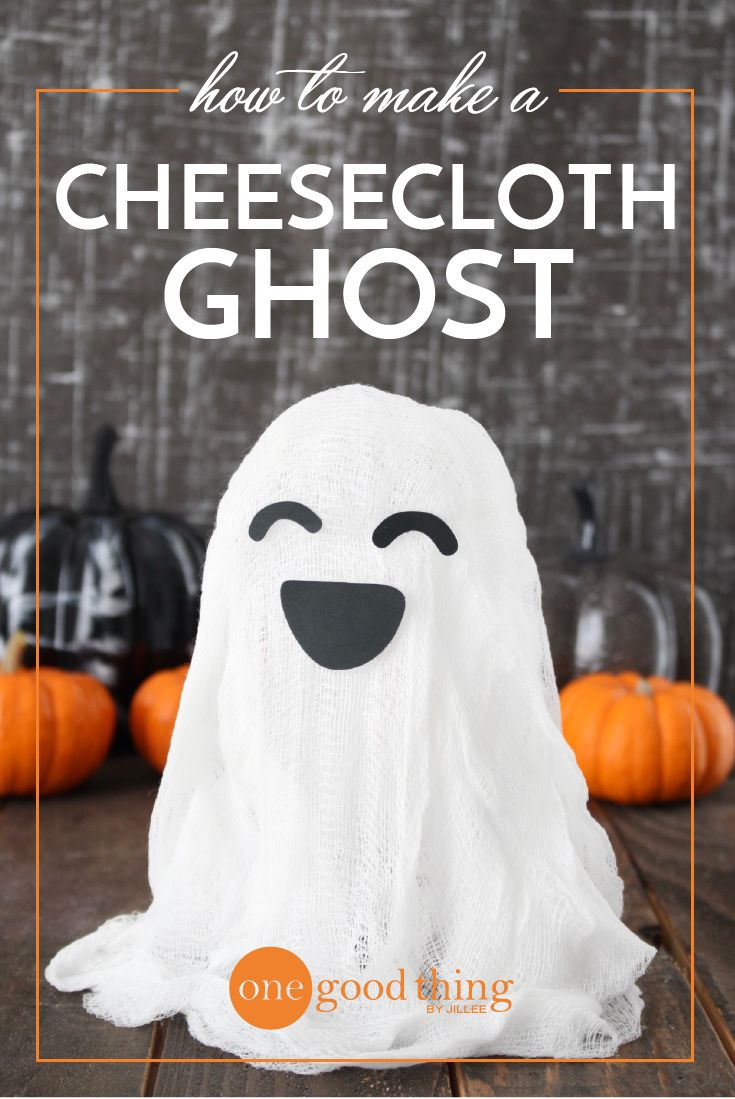 """Learn how to make a """"spooky"""" cheesecloth ghost! Whether you place your ghost on a table or hang it from the ceiling, it's sure to impress."""