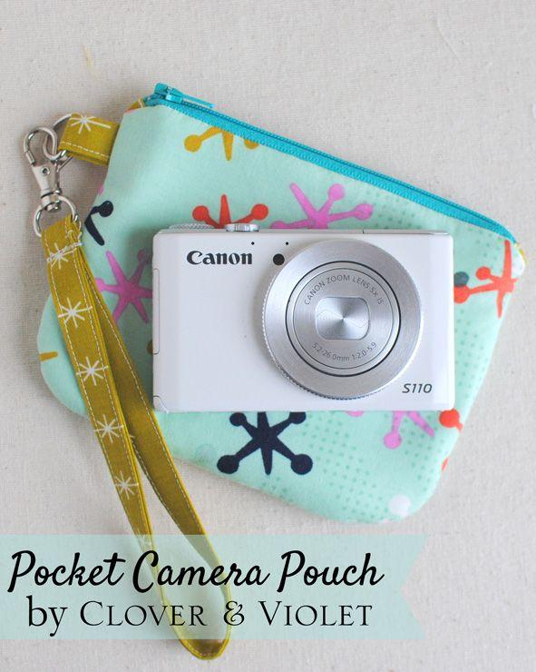 Pocket Camera Case {Mini Tutorial} (Clover & Violet)