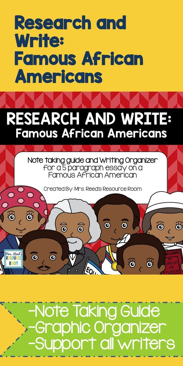 Guide your students on a research project about Famous African Americans.  Guided note taking sheets and a graphic organizer are included to help your students produce a 5 paragraph essay.