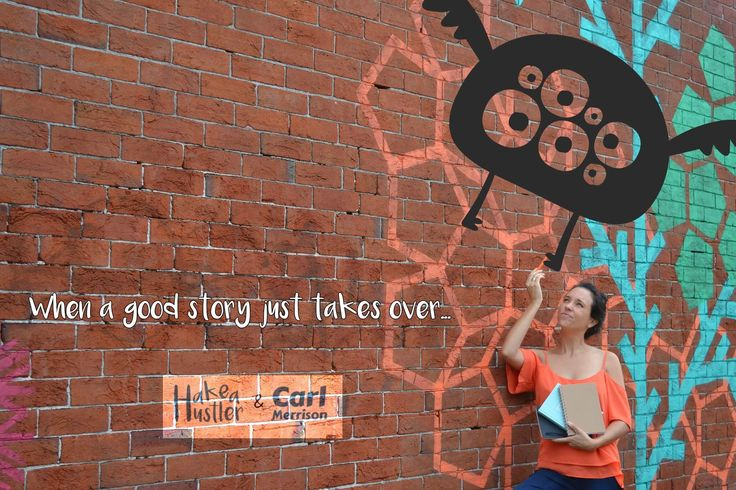 """""""when a good story takes over..."""" there was nothing author Hakea Hustler could do!"""