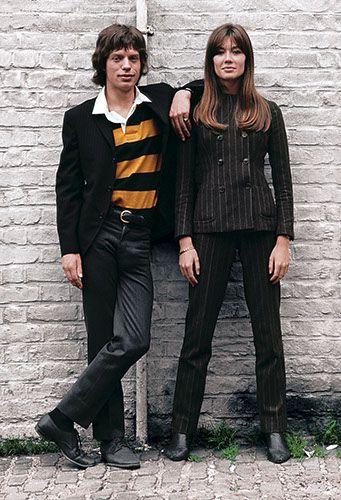 Francoise Hardy et  Mick Jagger - 1965