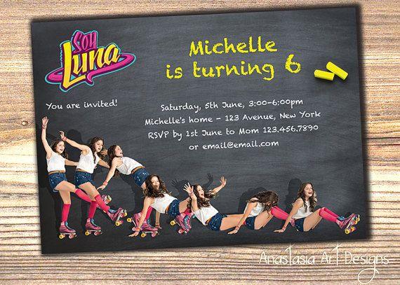 Soy Luna invitation, Soy Luna Birthday invitation, Disney Soy Luna Invitation, Soy Luna Party Invitation, Printable, DIY