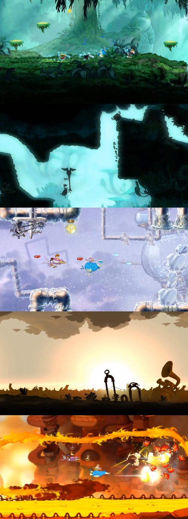Rayman Origins - Levels
