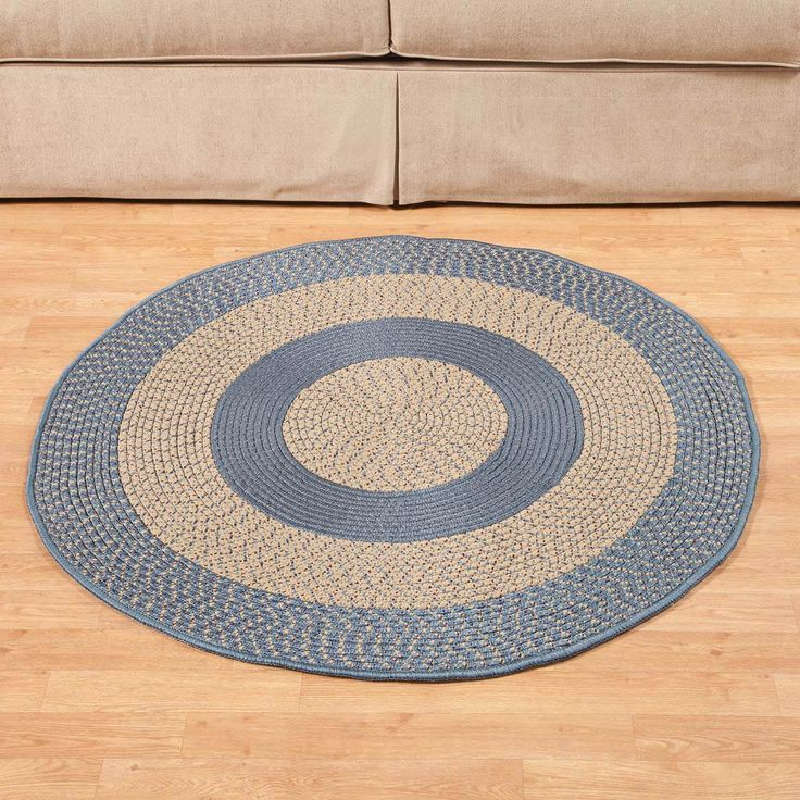 """Miles Kimball Multi-Color Round Braided Rug by OakRidge Accents offers a generous 48"""" of dimension and interest that's perfect for any room."""