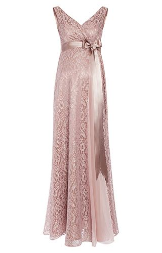 Thea Maternity Gown Long Blush by Tiffany Rose