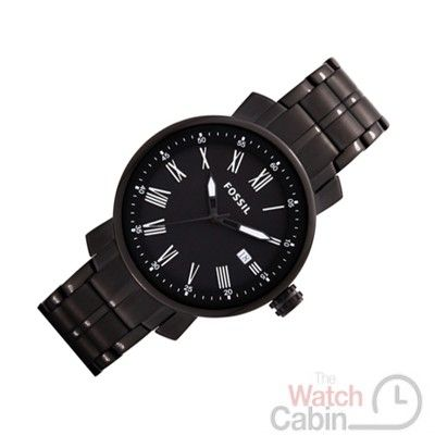Fossil Rhett BQ1014 Mens Watch - Special price: £109.00 -Stainless steel case, black, polished/mat -Stainless steel strap, black, polished/mat, folding clasp -Quartz movement, battery operated -Date display -5 ATM Water Resistant -Case width ca. 41 mm -Comes with booklet and box.