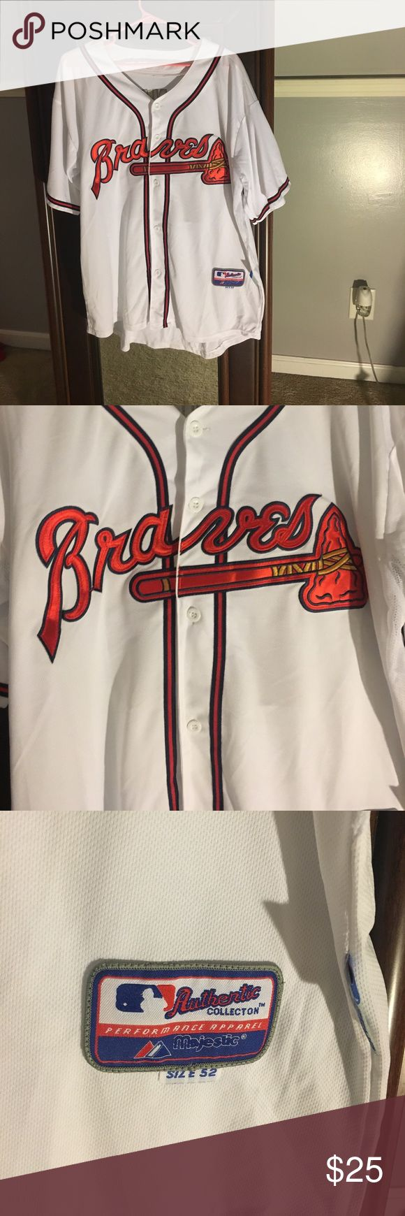 Chipper Jones Atlanta Braves Jersey When you go to Atlanta Braves games, you like to be outfitted in the best game day wear. Arrive in this Men's Chipper Jones Atlanta Braves White Replica Home Cool Base Jersey and you'll be ready to cheer your favorite team on to victory! It features Atlanta Braves graphics on the front and back to prove you're the biggest fan around. Shirts