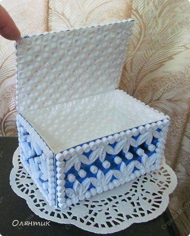 Krabička * papírová  zdobená quillingem