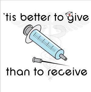 Yes it is! Nursing humor. ;)