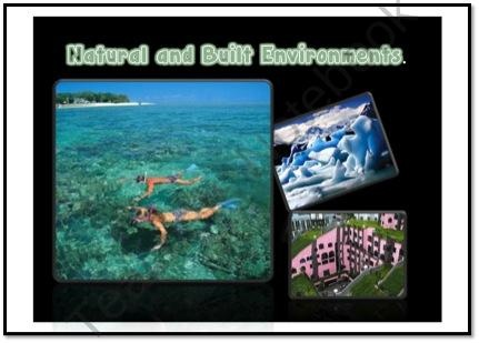 Natural and built (man-made) environments packet. from Just Teach on TeachersNotebook.com (32 pages)  - Natural and built (man-made) environments packet. Flashcards, sorting, bulletin board ideas charts brainstorming.