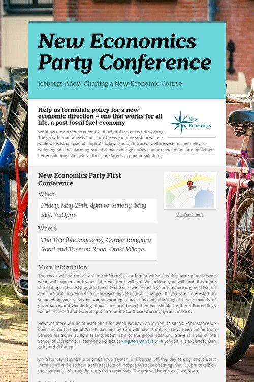 New Economics Party Conference