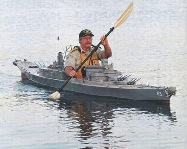 戦艦カヤック