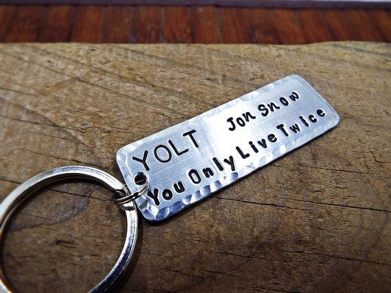 You Only Live Twice Jon Snow Keychain  FREE by Aluminiopassions