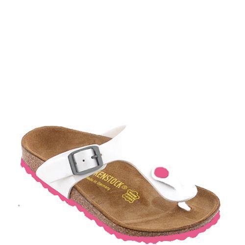 Birkenstock kids small slippers Gizeh Wit lak