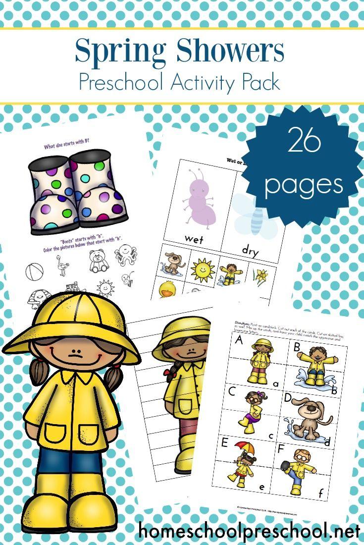 Free Rainy Day Themed Spring Preschool Printables Free Preschool Printables Preschool Printables Spring Preschool [ 1100 x 735 Pixel ]