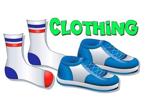 """▶ """"Clothing Lesson"""" - Teach Names of Clothes, Kids Learn English, ESL, EFL, Kindergarten Toddler Video - YouTube"""
