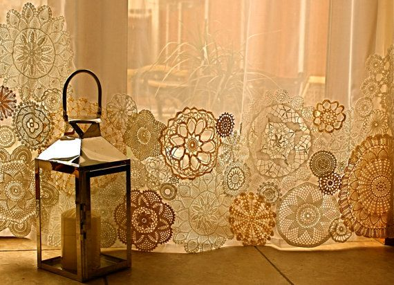 94 Best Crocheted Curtains Images On Pinterest