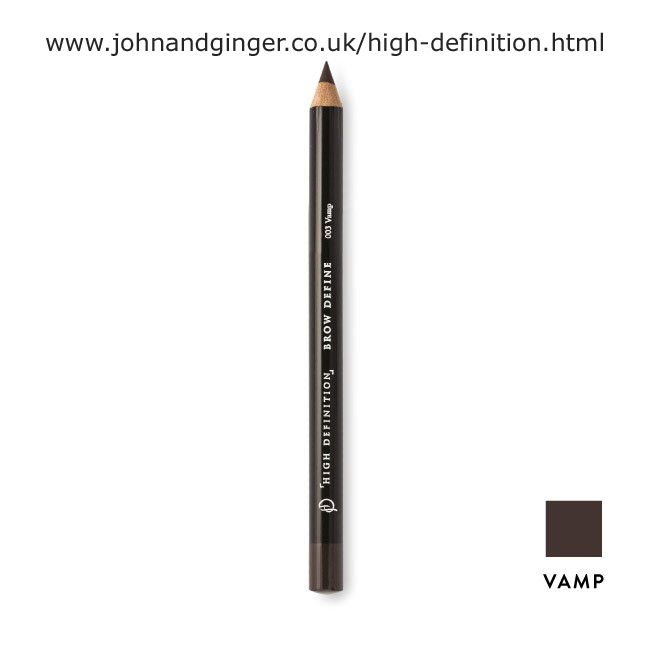 High Definition Brow Define with a built in pencil sharpener. In the shade Vamp.