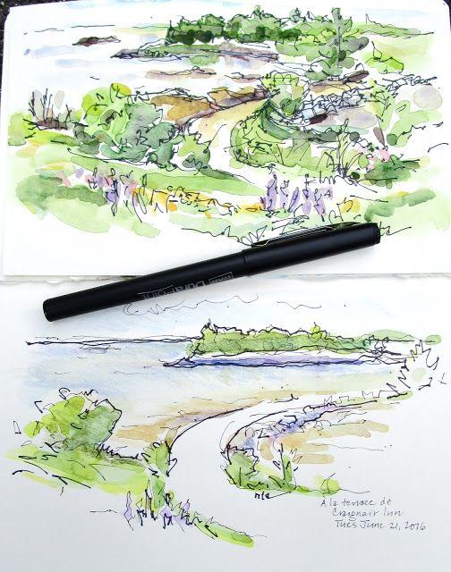 """Sketchbook Wandering : Doing """"Nothing"""" on the Seaside Deck"""