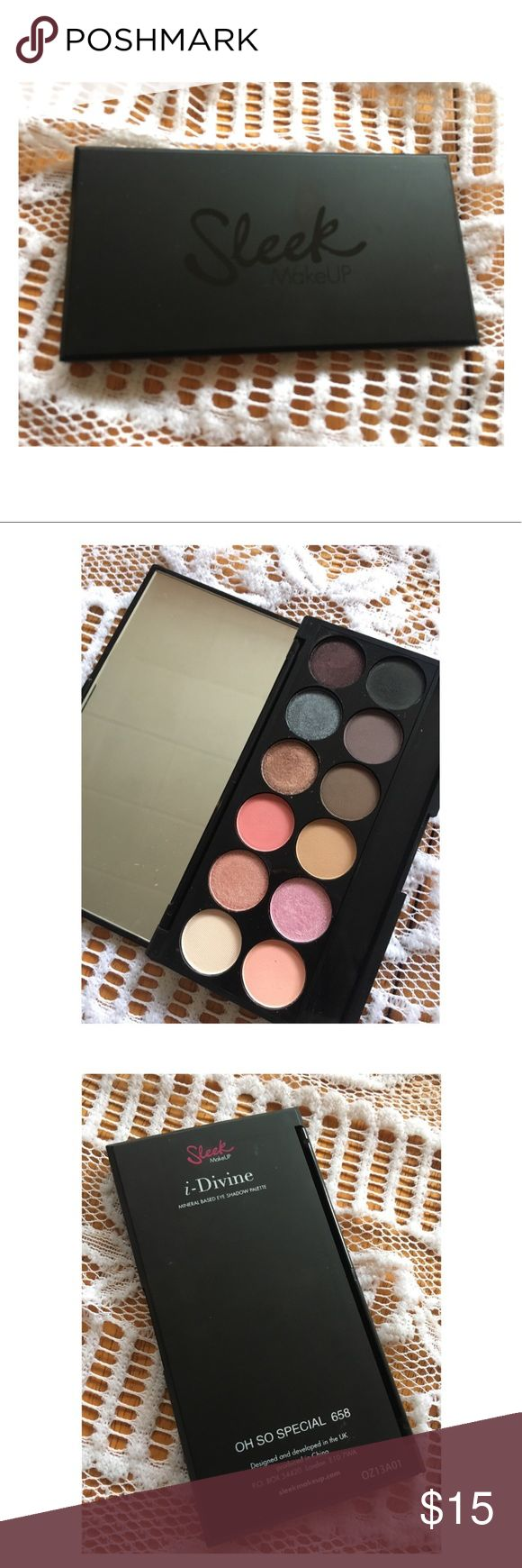 Sleek Eyeshadow Palette Never used, Only swatched Sleek eyeshadow palette. Very well pigmented. Only getting rid of to make more room for new makeup. Thanks for your interest! sleek Makeup Eyeshadow