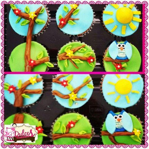 Buho cupcakes