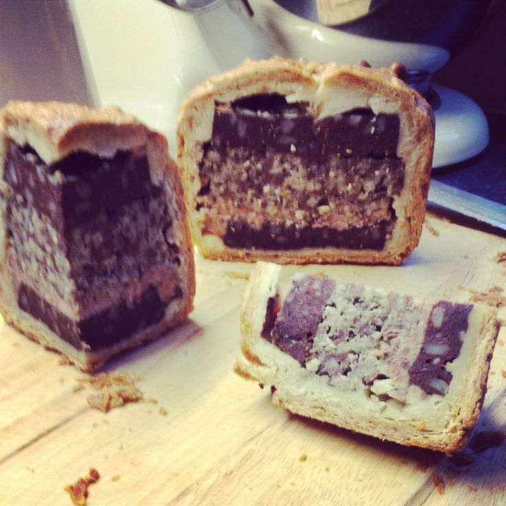 Homemade Black Pudding and Haggis Pie