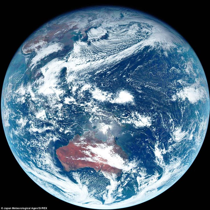 Beautiful Earth's picture taken by Himawari-8 satellite of Japan