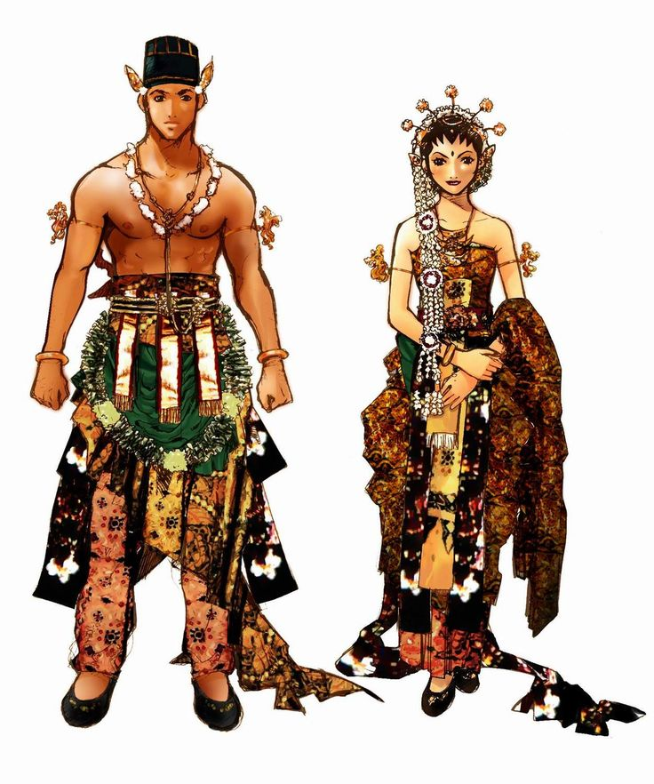 Javanese Wedding Attire by adipatijulian.deviantart.com