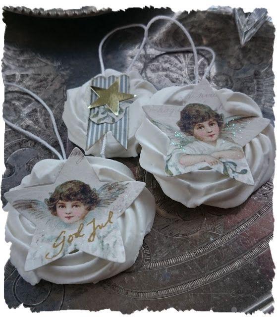 Helena Wikman. Kristyränglar gjorda av papper från Glistening season från Pion design #piondesign #glisteningseason