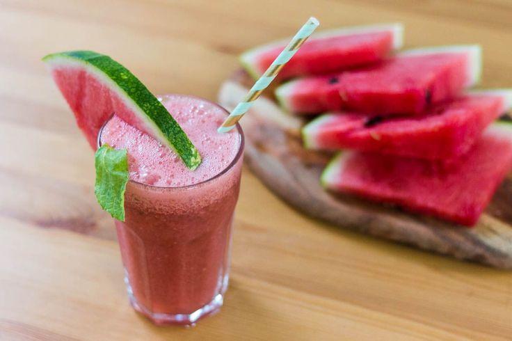 Domowa, dietetyczna lemoniada arbuzowa – fit przepis