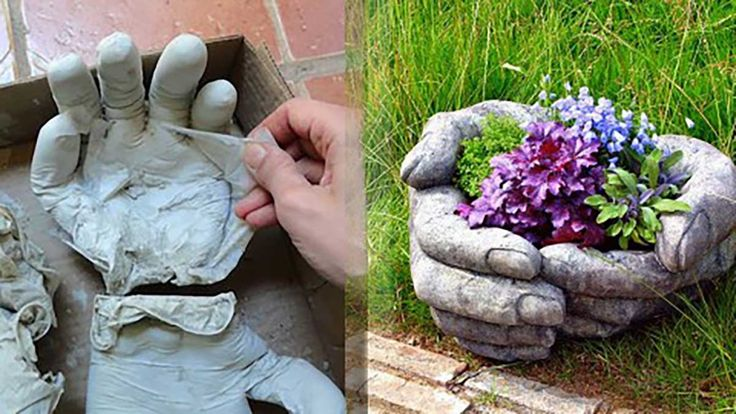 DIY concrete planters are easy to make and are great backyard ideas as well as excellent DIY home decor. Follow this tutorial & make these DIY planter hands