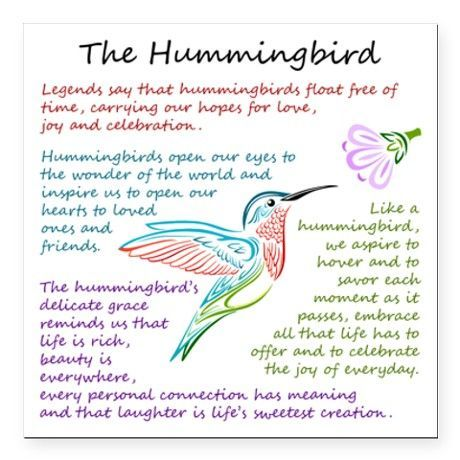 The Hummingbird Square Magnet