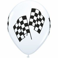 Helium Filled Racing Flags Balloon – Build a Birthday