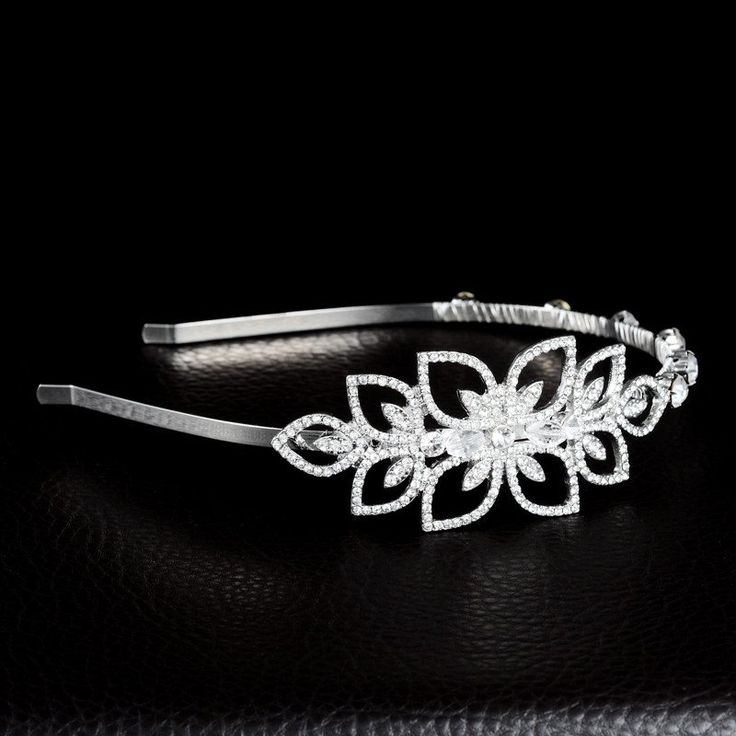 Bridal Flower Rhinestones Wedding Headband Tiara