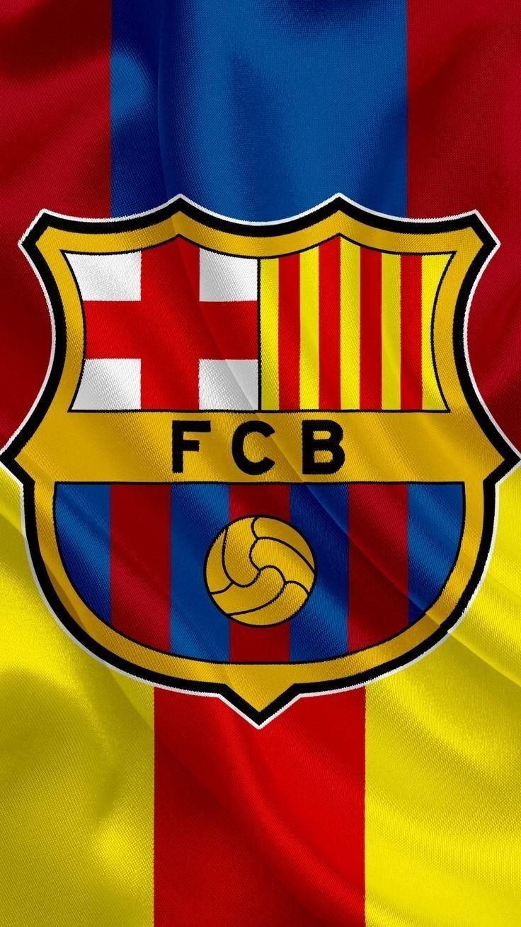 Pin color FC Barcelona oro 18k