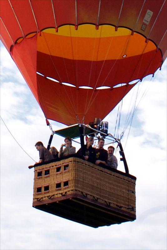 Balónový koš pro 10 pasažérů a pilota