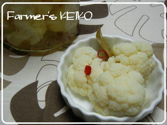 Farmer's KEIKO『【農家のレシピ】カリフラワーのピクルス ~カリフラワーを真っ白に茹でましょう☆~』
